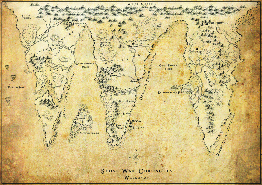 Stone War Chronicles Worldmap