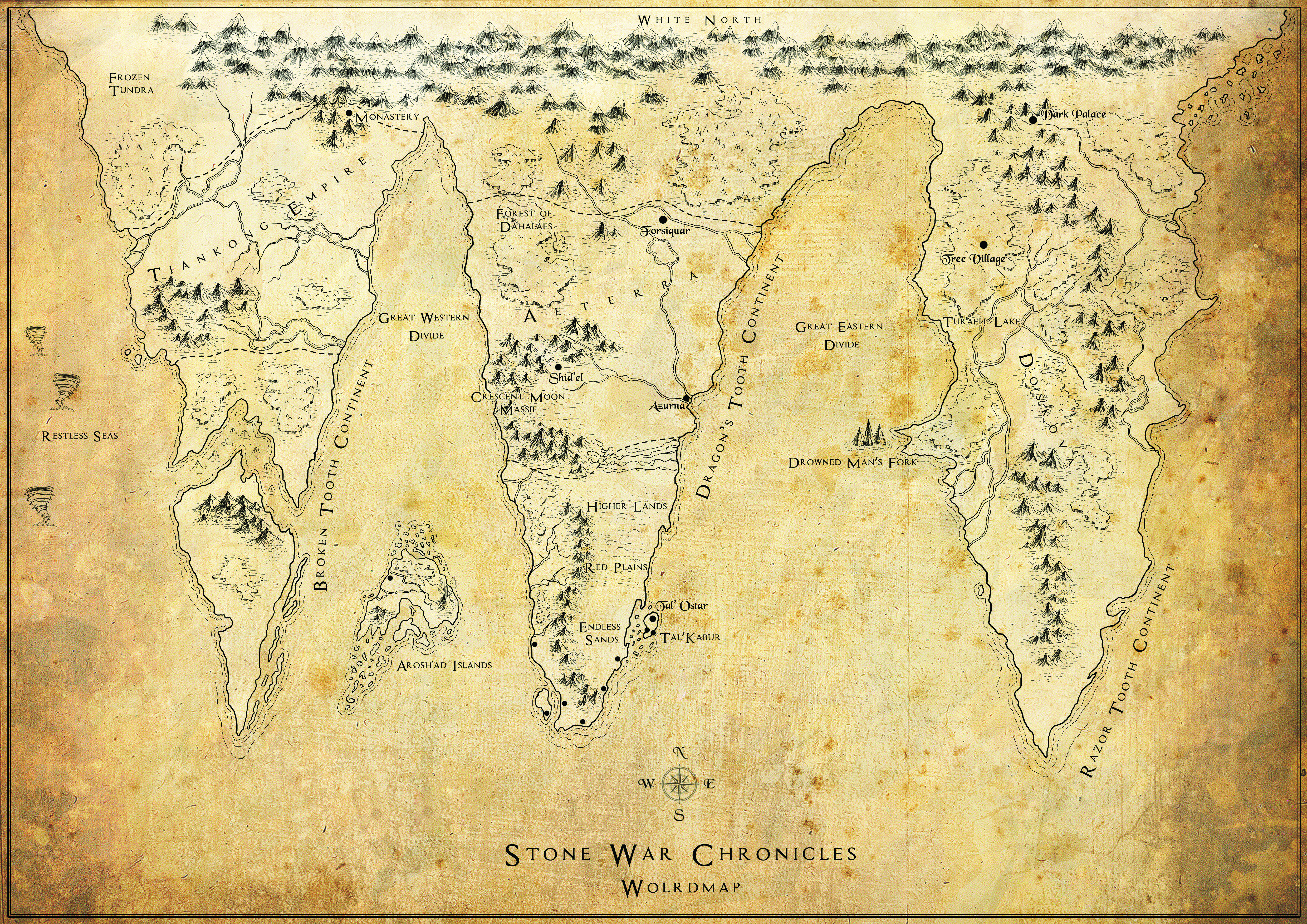 How To Create A Fictional World Map.How To Create A Fantasy World Map Stone War Chronicles
